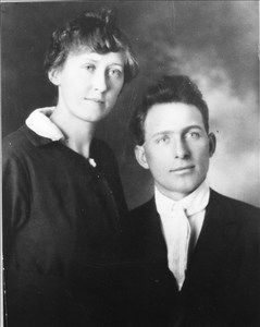 Olive and Gus Hanks about 1917